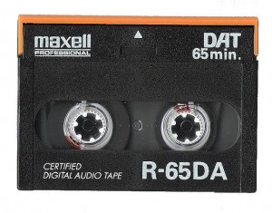 Image of a DAT tape