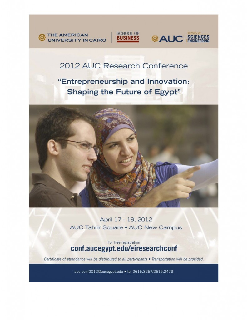 2012 AUC Research Conference Agenda