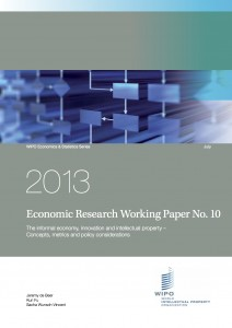 Cover page of WIPO Economics Series Working Paper
